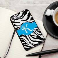 Zany Zebra Personalized iPhone Case with Black Trim