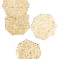 Metallic Leather Gem Coasters | LEIF