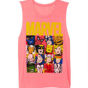 Marvel Photo Block Muscle Tank