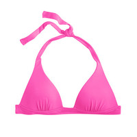 Neon sculpted halter top - swim - Women - J.Crew