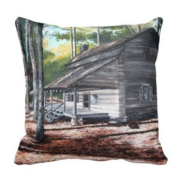 Georgia: Cabin in the Woods Pillow