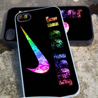 Nike Just Do It glitter Smoke - iPhone 4/4s/5/5c/5s Case - Samsung Galaxy S2/S3/S4 - Blackberry z10- iPod 4/5 Case - Black or White