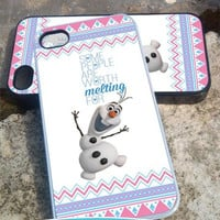 olaf melting aztec - iPhone 4/4s/5/5c/5s Case - Samsung Galaxy S2/S3/S4 - Blackberry z10 Case- iPod 4/5 Case - Black or White