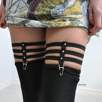 Skeleton Thigh Garters One Pair by Noctex on Etsy