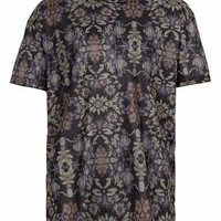 TAPESTRY PRINT MESH SKATER T-SHIRT - Men's T-Shirts & Vests - Clothing