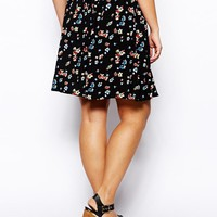 ASOS Curve | ASOS CURVE Exclusive Skater Skirt In Floral Print at ASOS