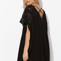 Ecote Charlotte Lace-Sleeve Swing Dress - Urban Outfitters