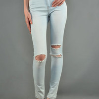 Del Rey High Waisted Denim Skinny | Bloody-Fabulous