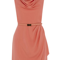 USA Dresses | Orange Lola Cowl Crepe Shift | Oasis
