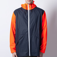 RAINS Blue Orange W Jacket Ltd