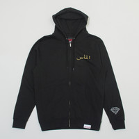 ICON Pullover Zip Hood in Black
