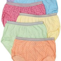 Fruit of the Loom Women's 6-Pack Heather Briefs