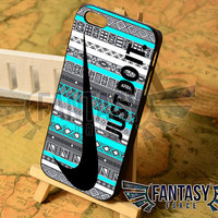 Nike Just Do It on Aztec Mint Pattern for iPhone 4/4s/5/5s/5c - iPod 4/5 - Samsung Galaxy s3i9300/s4i9500 Case