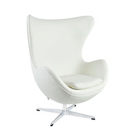 Leather Cell Chair in White