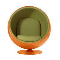 Egg Bubble Lounge Chair in Orange