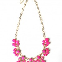 Neon Nights Necklace Pink