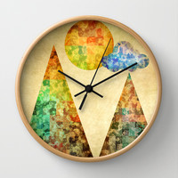 Sunday Wall Clock by SensualPatterns