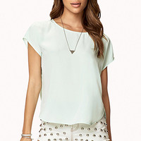 Boxy Satin Top