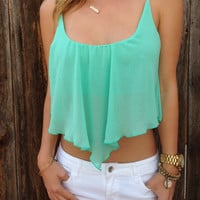 Chiffon Pointed Crop Top