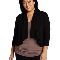 Karen Kane Women's Plus-Size Cropped Drape Jacket
