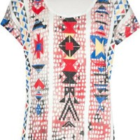 FULL TILT Ethnic Hi Low Girls Tee