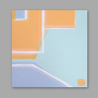 "Abstract Acrylic Painting Original Fine Art 12""x12"" by Linnea Heide - architectural - graphic - geometric - colorful"
