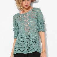Staring At Stars Mixed Crochet Sweater - Urban Outfitters