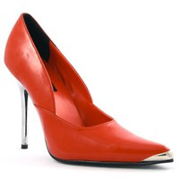 Red Spike Chrome Metal Heel by Pleaser