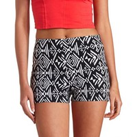 TRIBAL PRINTED HIGH-WAISTED SHORTS