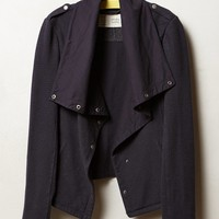 Draped Indigo Moto Jacket