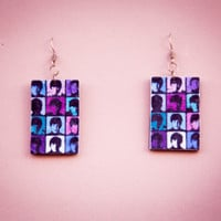 THE BEATLES COLORFUL EARRINGS