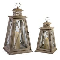IMAX Worldwide 56173-2 Hanging Portable Exterior Lantern  - Decor Universe