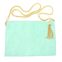 J'taime Paris Mint Clutch Bag