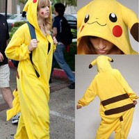 M Size Pikachu Pyjamas Unisex Lovely Sleeping Wear Kigurumi All Size Cosplay Costumes