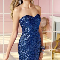 Sequined Fitted Dress by Alyce Homecoming