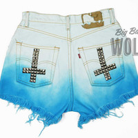 LEVIS High Waisted Bleached & Dip Dyed Ombre by shopbigbadwolf