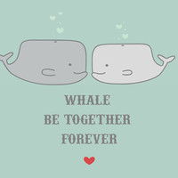 Whale Be Art Print by Grace Elizabeth | Society6
