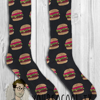 Burger Unisex Adult Socks