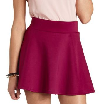 BASIC HIGH-WAISTED SKATER SKIRT