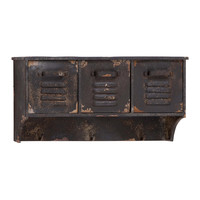 Rustic Metal Locker Wall Shelf | something special every day