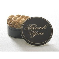 Thank You Cookie Tin with 12 Gourmet Cookies by Cornerstone Cookie Gifts