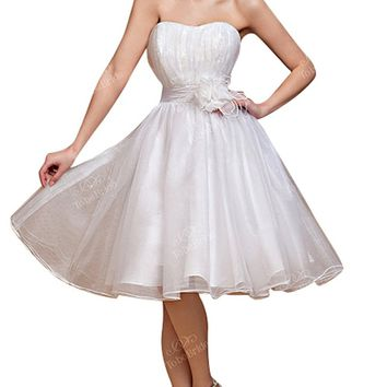 *Maillsa Short Organza Sweet Dresses
