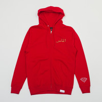 ICON Pullover Zip Hood in Red