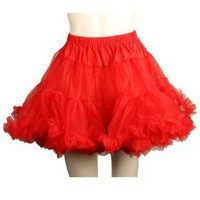 Layered Tulle (Red) Adult Petticoat Adult (One-Size)