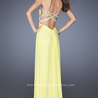 Open Back Prom Dress by La Femme 19731