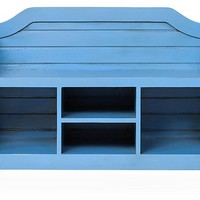 Beach House Storage Bench, Cobalt