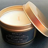 Pineapple Sage Soy Candle 6oz Gold Tin