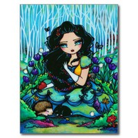 Snow White Dwarves Fantasy Fairy Art Postcard