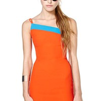 Gianni Versace Orange Crush Dress