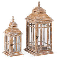 Wooden Lanterns, Asst. of 2